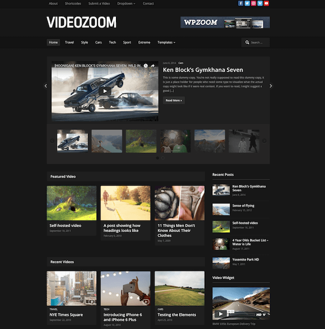 VideoZoom WordPress Theme