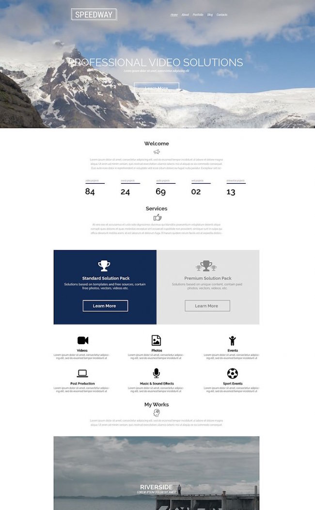 Videographer WordPress Theme