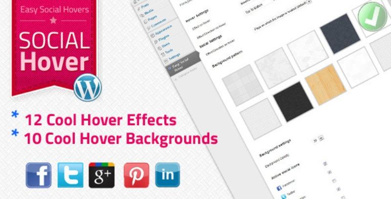 WP Easy Social Hover plugin