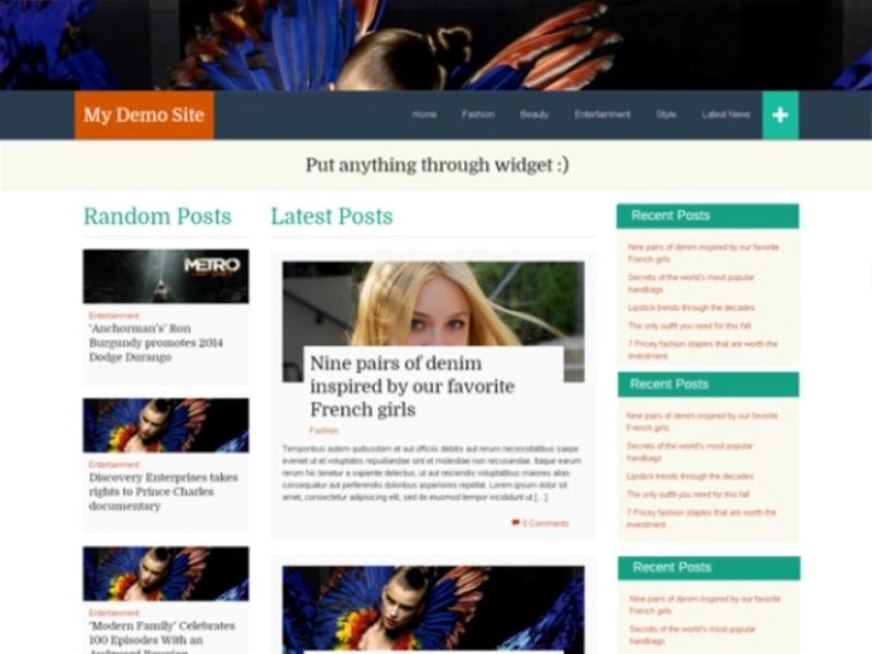 WP FlatThirteen free WordPress theme