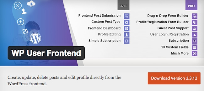 WP Frontend Publishing plugin