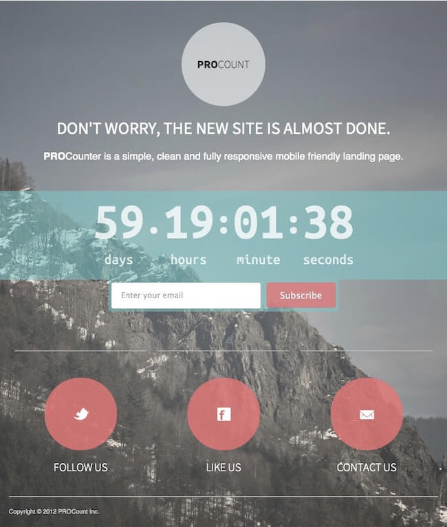 WP PROCount WordPress landing page Plugin