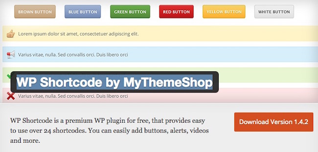 WP Shortcode by MyThemeShop