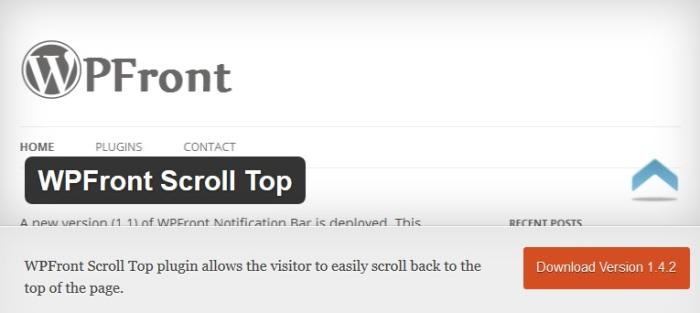 WPFront Scroll Top