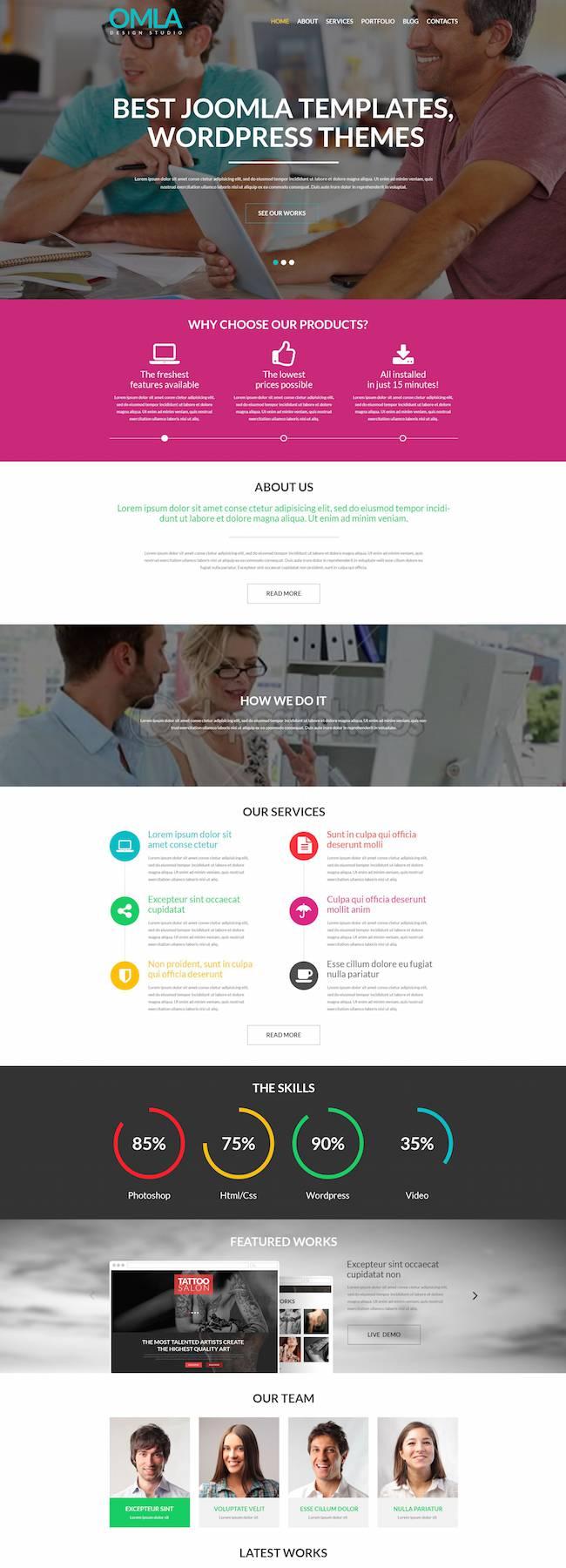 Web designer theme