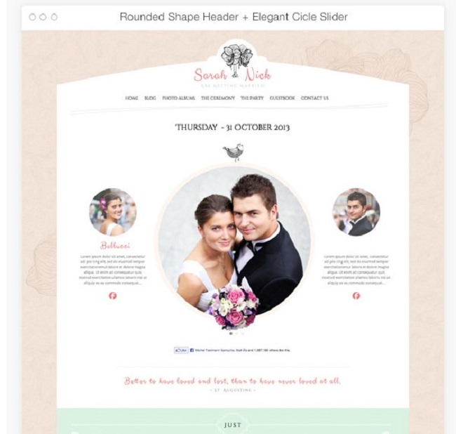 Wedding day wp theme, event planner wp theme
