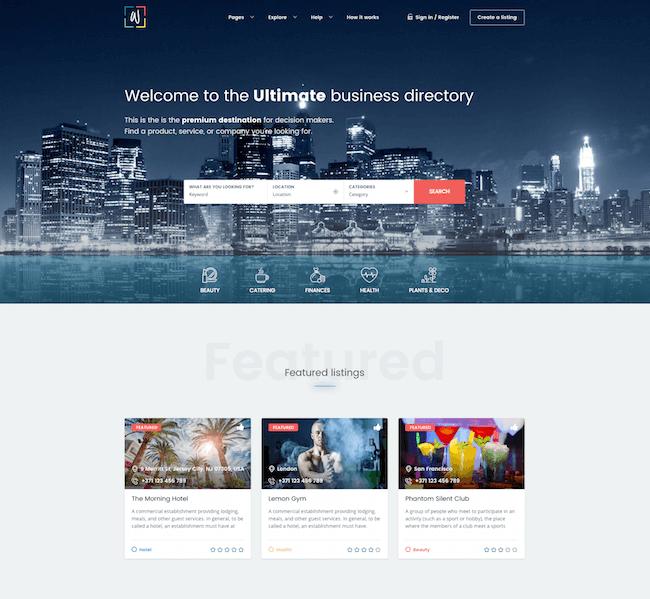 WhiteLab WordPress Directory Theme