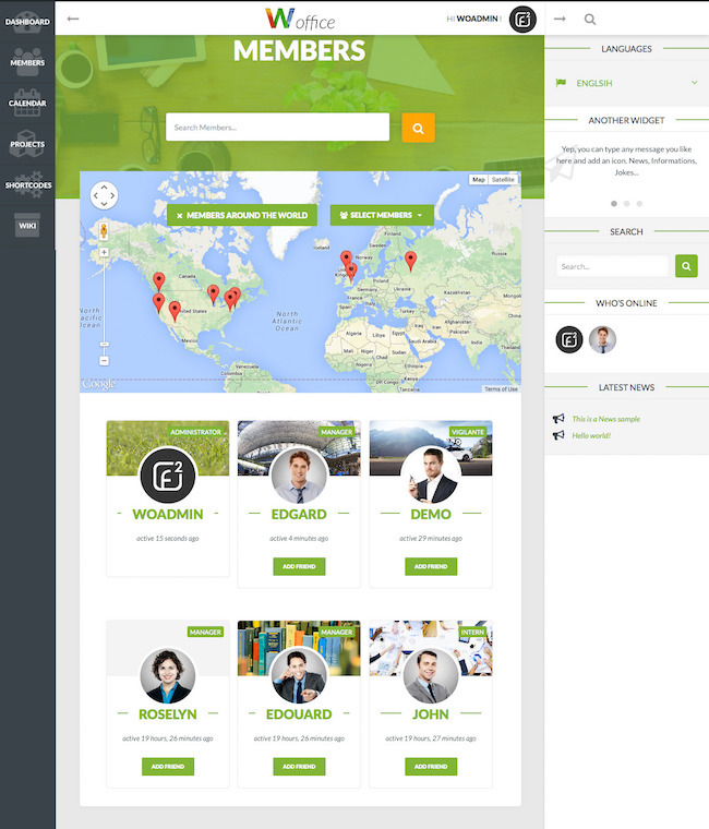 Woffice wordpress theme