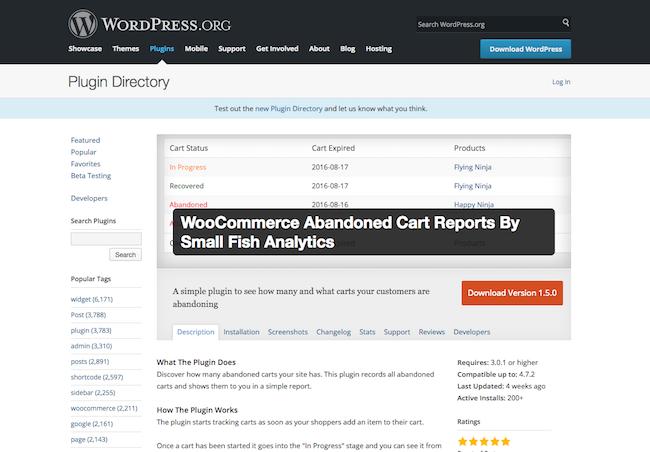 WooCommerce Abandoned Cart Report Plugin