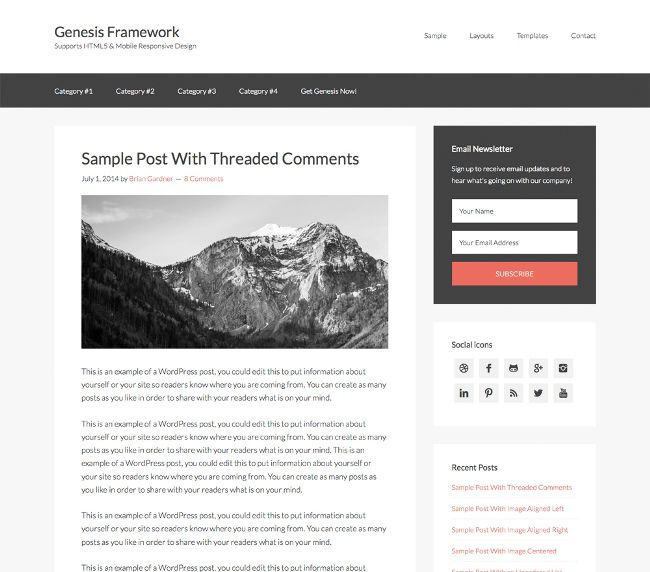 WordPress Theme Frameworks
