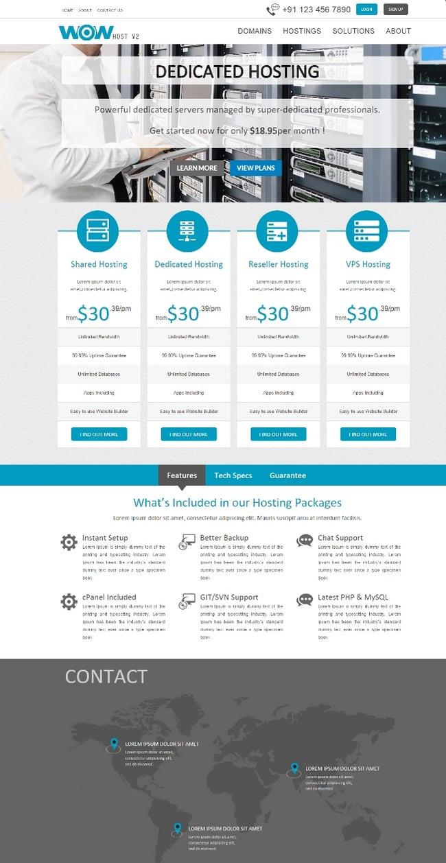 Wowhost Web Hosting WordPress Theme