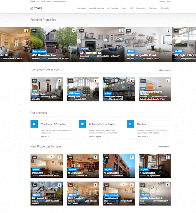 zoner real estate wordpress theme free download