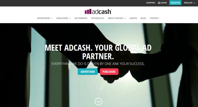 Adcash ad platform
