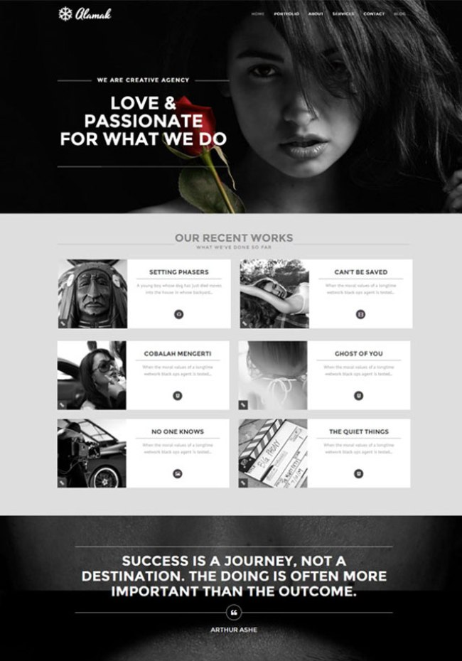 Alamak one page WordPress theme