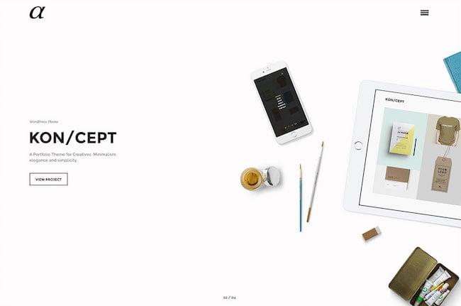 alpha-minimal-portfolio-wordpress-theme