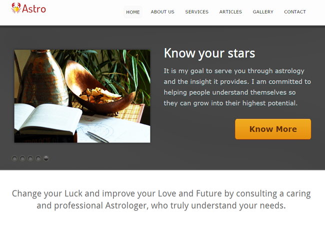 Astrologer WordPress Theme