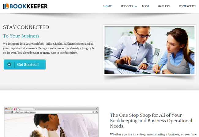WordPress Theme For Accountants