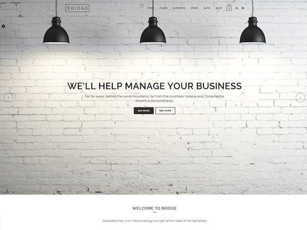 Best parallax wordpress theme bridge demo