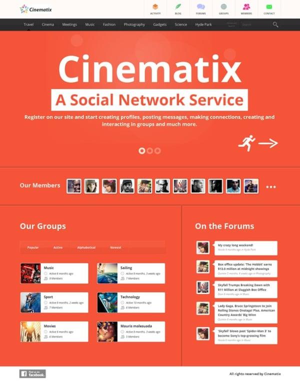 cinematix-social-network-theme-buddypress