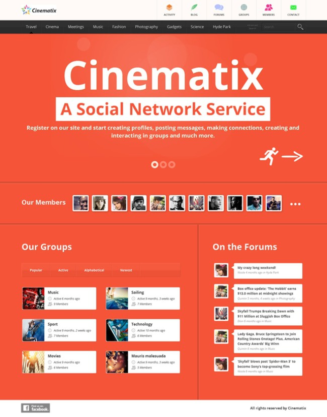 cinematix-social-network-theme-buddypress