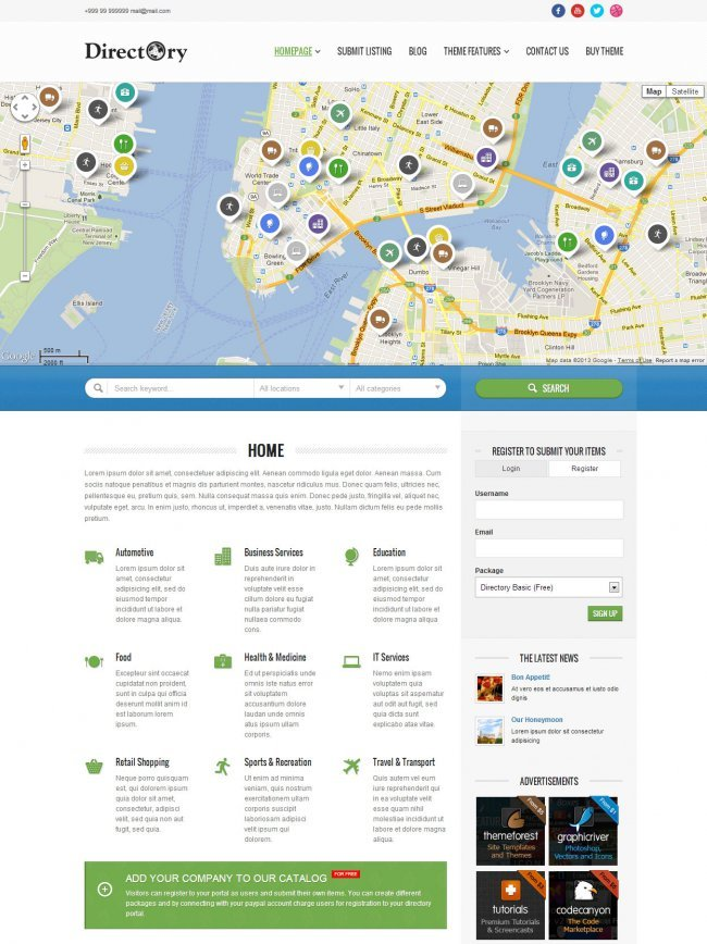 directory-portal-wordpress-theme
