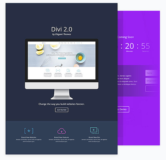 divi coming soon page