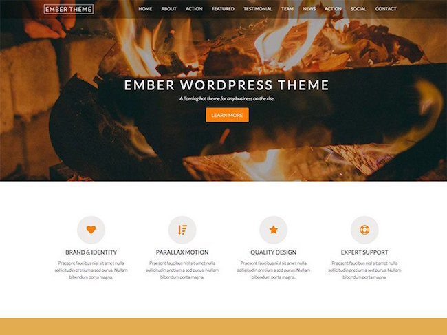 ember free wordpress theme