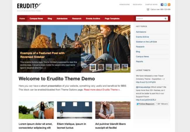 erudito education theme