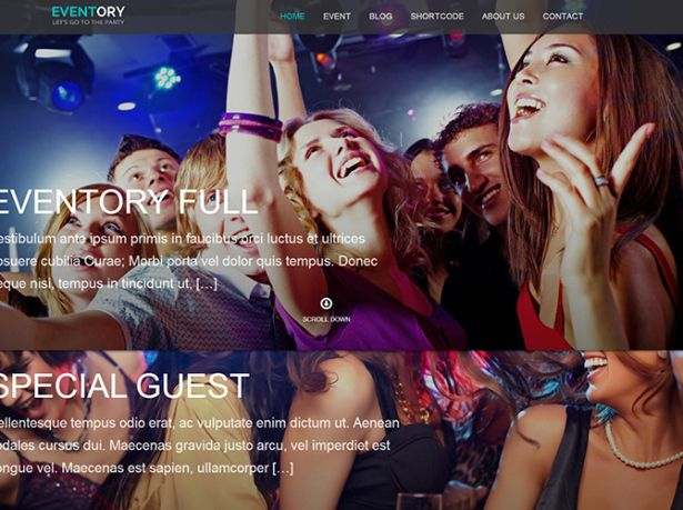 eventory WordPress Theme