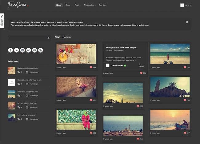 facepress content sharing viral theme