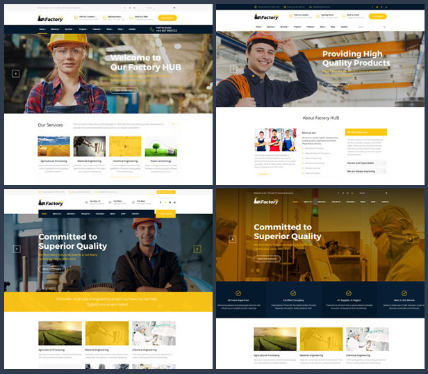 Factory Hub Industrial WordPress Theme