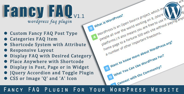 Fancy FAQ plugin