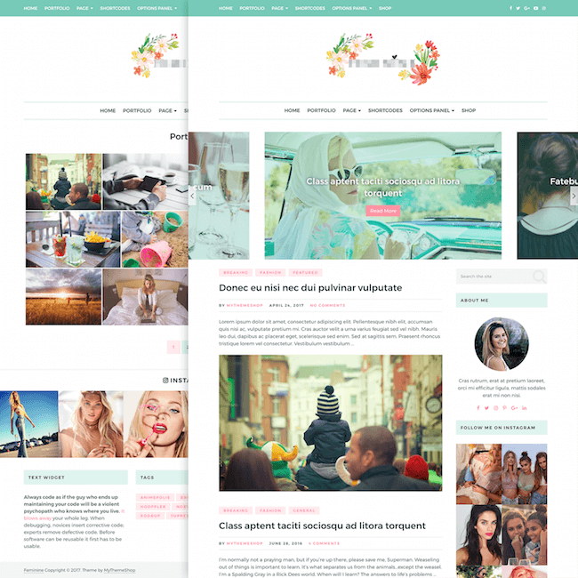 feminine-wordpress-theme
