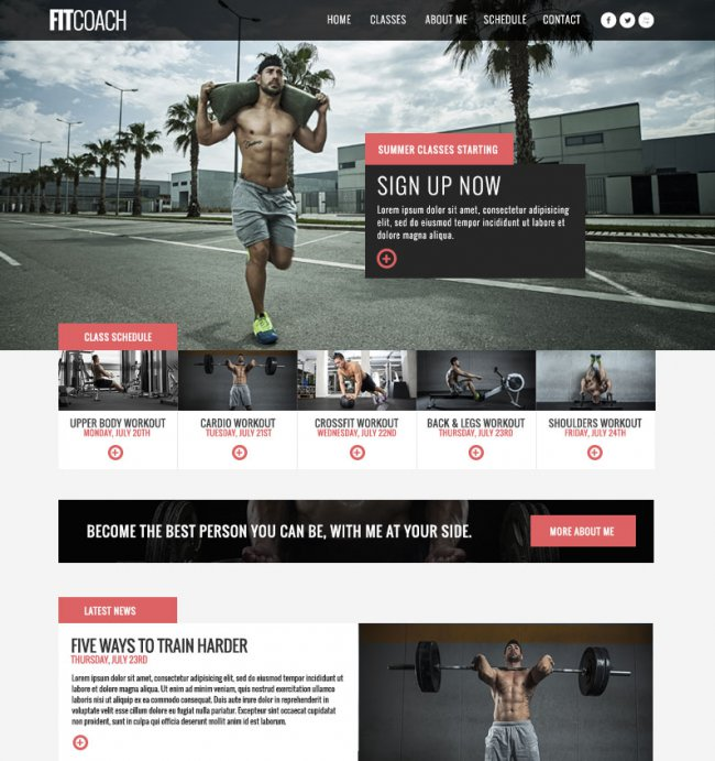 fitcoach free wordpress theme