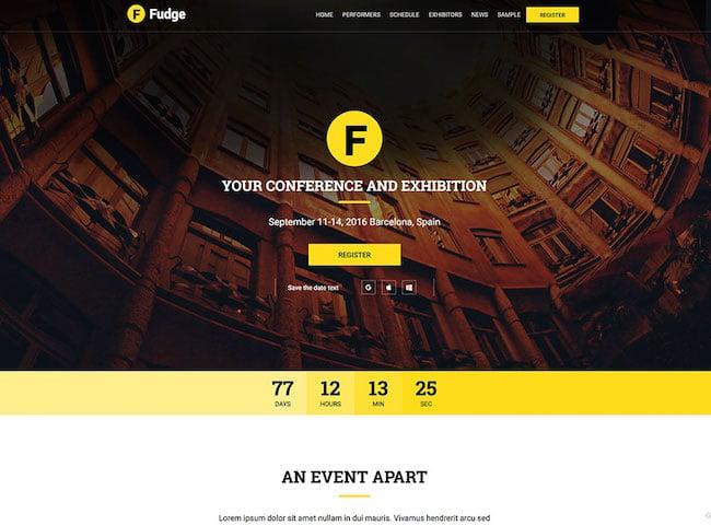 fudge-event-website-theme
