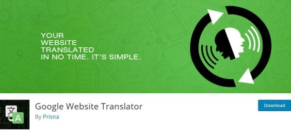 google website translator plugin