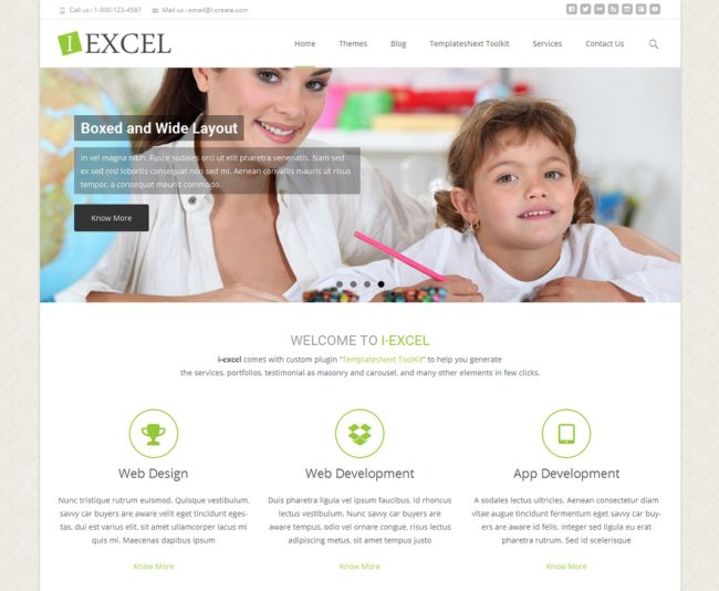 i-excel-free-responsive-wordpress-theme