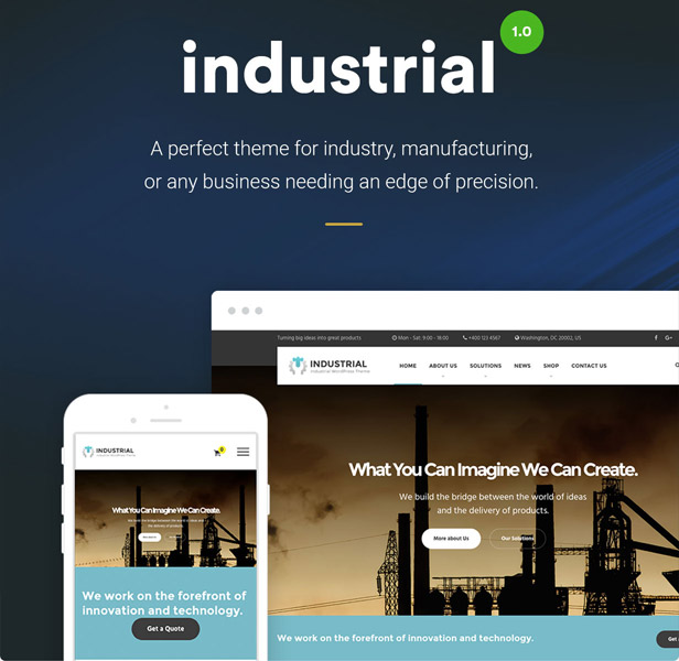 Business and Industry Industrial WordPress Theme