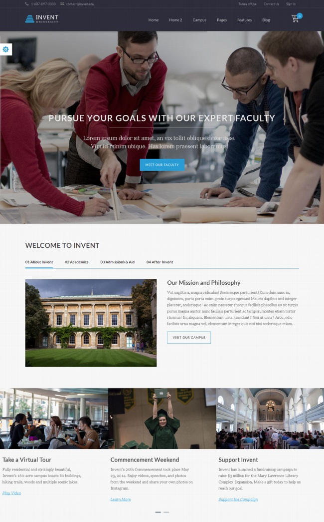 invent-education-course-college-wordpress-theme