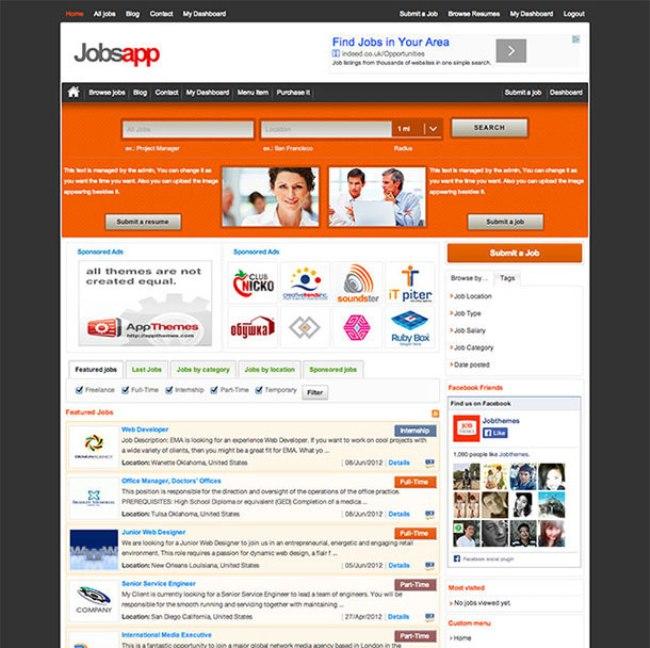 jobsapp WordPress theme