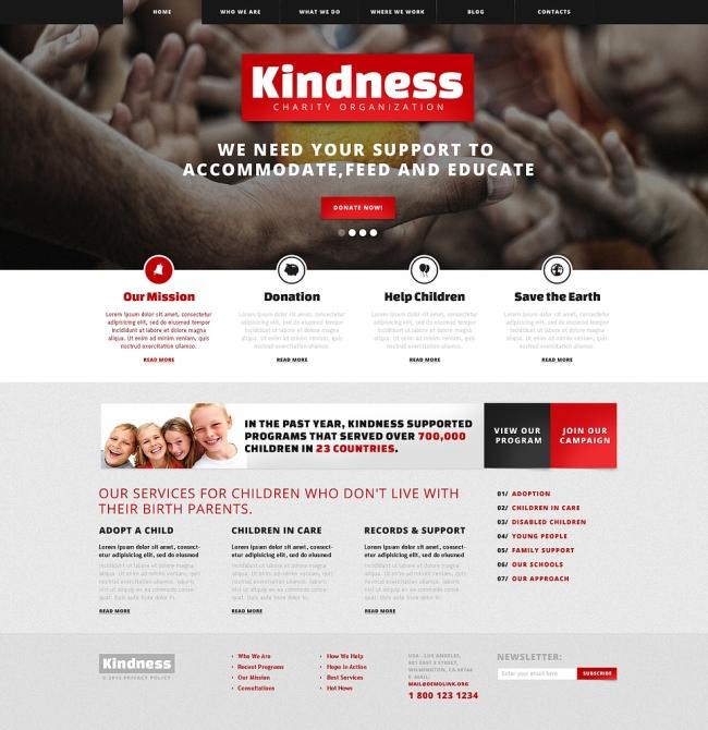 kindness non profit WordPres theme