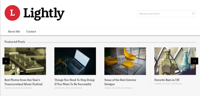 lightly WordPress theme