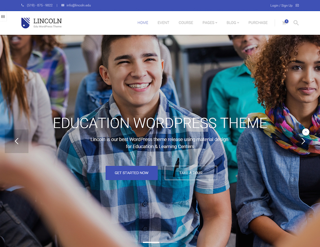 lincoln-education-material-design-wordpress-theme