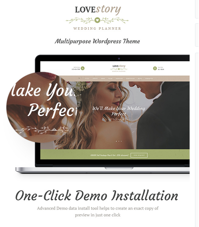 love story wp theme, event planner wp theme
