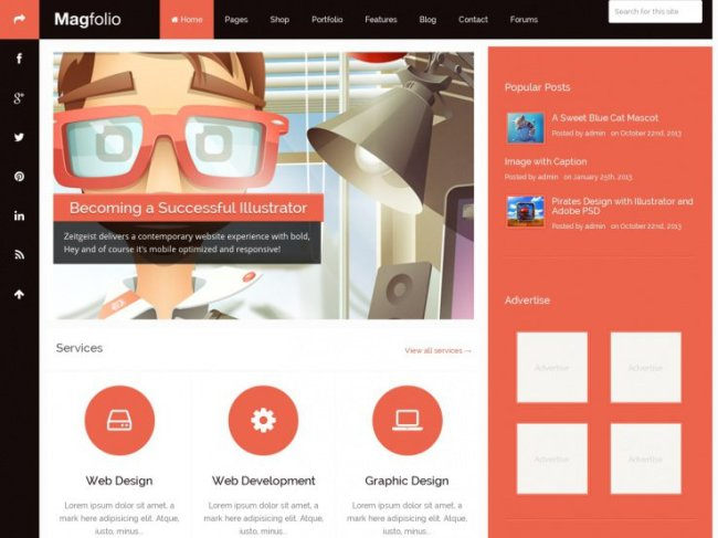 magfolio wordpress theme