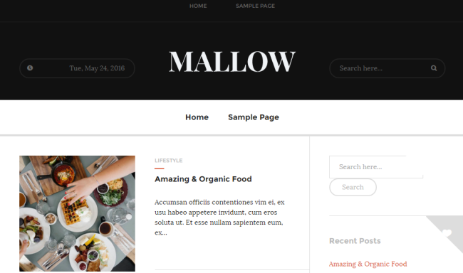 mallow WordPress Theme