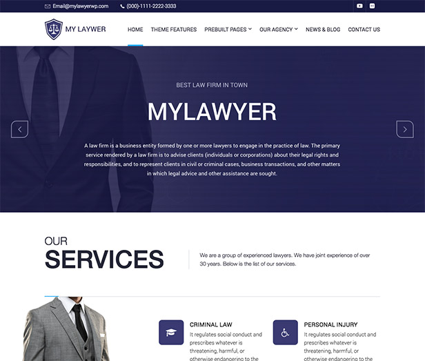 MyLawyer WordPress Theme