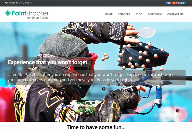 WordPress Theme For Paintball Clubs