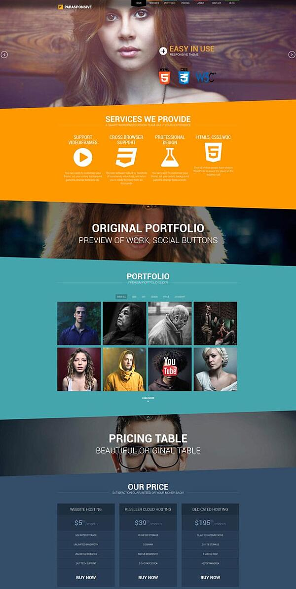 parasponsive is one of the best parallax wordpress themes