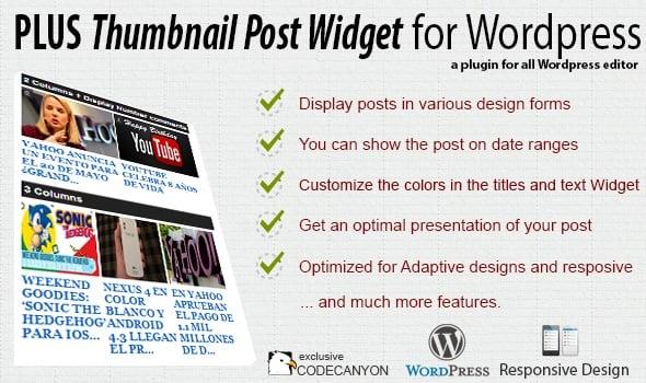 plus thumbnail post widget for WordPress